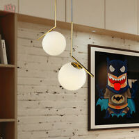 Modern Glass Ball Suspension Chandelier Ceiling LED Pendant Lamp Indoor Light
