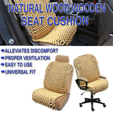 Zone Tech Natural Wood Beaded Car Home Seat Chair Cover Massage Cool Cushion