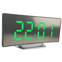Night Light Alarm Clock Digital LED Display Battery Operated Mirror