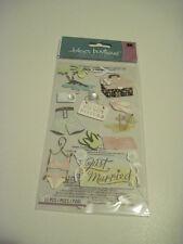 Scrapbooking Crafts Stickers Jolee's Honeymoon Do Not Disturb Suitcase Plane