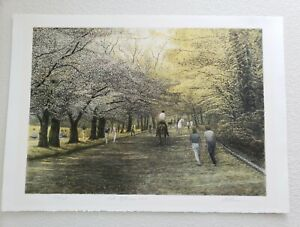 Harold Altman Late Afternoon Central Park 1985 Lithograph Signed 136/285