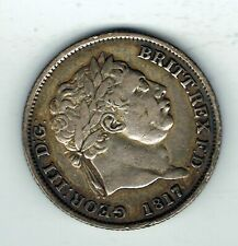 More details for 1817 george iii silver shilling coin - 5.5g
