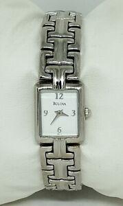 Ladies Bulova Classic Stainless Silver Tone Analog Quartz Watch 96L11 D1