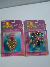 Vintage Mighty Morphin Power Rangers Radiant Jewelry Collection LotOf 2 NEW 1995