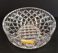 Vintage Handcut Crystal Centerpiece Bowl 24% Lead Crystal West Germany Sticker