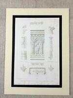 1857 Antik Architektur Aufdruck Frankreich Limoges Kathedrale Grab Mausoleum