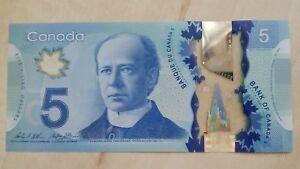 CANADA $5 Dollars 2013 2015 P106c Wilkins/Poloz UNC Polymer Banknote