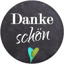 24 runde Aufkleber 40 mm / Dankeschön / DIY / Geschenkaufkleber / Danke