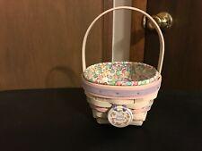 Longaberger 2000 - Jelly Beans White Washed Easter Basket