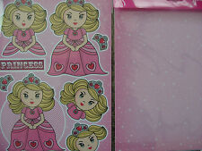 NEW CUT AND CREATE FAIRYTALE PRINCESS AND A4 BACKING SHEET