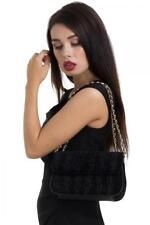 Bolso de terciopelo negro Velvet evening bag con espejo Voodoo Vixen BGA3784