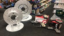 AUDI 1.8 1.9 2.0 TFSI TDI FSI DRILLED GROOVED FRONT REAR BRAKE DISCS BREMBO PADS
