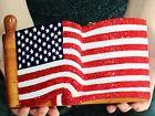 TIMMY WOODS PATRIOTIC USA FLAG PROUD 2B AMERICAN PURSE SWAROVSKI CRYSTAL CLUTCH
