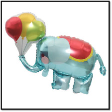"33"" Elephant holding balloons mylar balloon foil birthday baby shower circus"