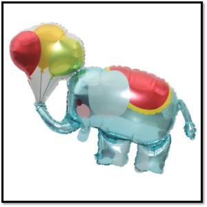 "33"" Elephant holding balloons mylar balloon foil birthday baby shower circus"