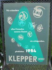 Original Plakat Entwurf von Fehling Klepper , Mäntel, Boot, Zelt         ( 18 )