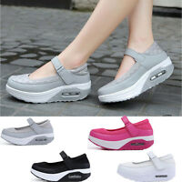 Women's Mesh Breathable Shape Up Shoes Sneakers Platform Summer Athletic Size