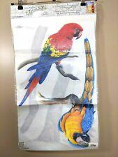 Tatouage Designs Dry Rub Wall Transfers Parrots on Perch Carolyn Yovan 1999