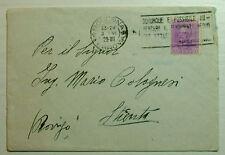 1929  ITALIA  50 centesimi  violetto con annullo battaglia del grano, viaggiata