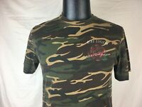 Riot Society Rose Flower Camo Camoflage T-Shirt Men's Medium M Made in USA