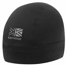 MENS KARRIMOR BLACK THERMAL WINTER LIGHTWEIGHT REFLECTIVE SOFT LINED BEANIE HAT