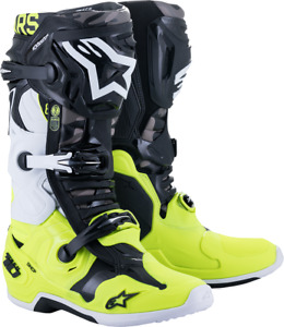 Alpinestars Limited Edition AMS Tech 10 Boots Size 11 Black/Yellow/White