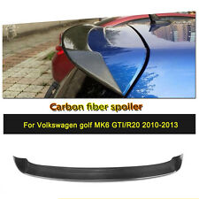 Rear Roof Spoiler O Style Wing Top Lips Fit for 10-13 VW Golf 6 VI MK6 R20 GTI