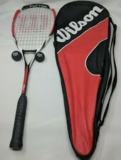 Wilson K Factor K Power Tour 140 Grams Arophite Black Squash Racquet Case Balls