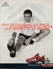 Publicité 1997 ADIDAS Florian Maurice basket sport collection mode pret à porter