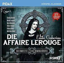 L'affaire Lerouge * CD kriminalhörspiel par Emile Gaboriau Pidax NEUF