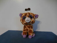 Ty Beanie Boos Safari the Giraffe Orig Version No Glitter Eyes Purple Tush Tag