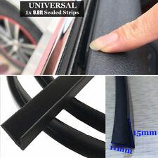Car Door Window Trim Edge Moulding Rubber Weatherstrip Seal Strip Black Durable