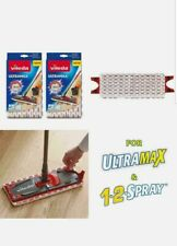 Vileda Ultramax/1-2 Spray Replacement Mop Head Microfibre Pads - Pack of 2 * NEW