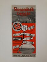 SHENANDOAH CAVERNS 1930s Brochure VINTAGE Travel VA NEW MARKET tourist