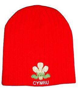 Wales Rugby Red Beanie Hat - Cymru Rugby