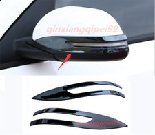 2PCS Black Titanium Car Rearview Mirror Decor Cover Trim For Kia Forte 2018-2020