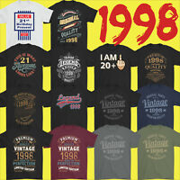 Mens Funny 21st Milestone Birthday T-Shirt 21 Year Old Gift Idea Present 1998
