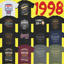 Mens Funny 21st Milestone Birthday T Shirt 21 Year Old Gift Idea Present 1998