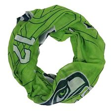 NFL Seattle Seahawks Big Team Logo with 12 Women's Green Infinity Scarf