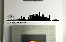 San Francisco Skyline Vinyl Wall Decal Wall Sticker Man cave Bedroom Removable