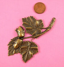 BEAUTIFUL LARGE ANT BRASS ACORN AND OAK LEAVES-1 PC(s