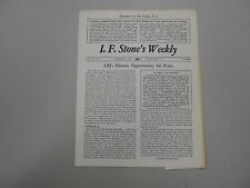 I. F. Stone's Weekly Vol. XII, No. 41 from December 7, 1964! Rare indie paper!