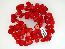 Red coral teardrop beads 10x15x2mm