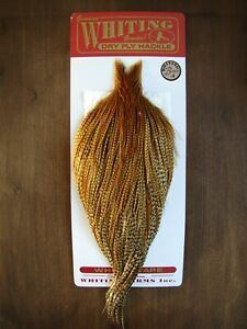 Fly Tying Whiting Bronze Rooster Cape Barred Dark Ginger #A