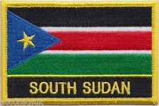 South Sudan Flag Embroidered Patch Badge - Sew or Iron on