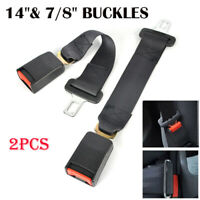 "2PCS Universal 14"" Car Seat Seatbelt Safety Extender Belt Extension 7/8"" Buckle"