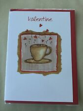 ❤️ Valentines Day Card ❤️ Cup And Saucer ❤️ New & Sealed