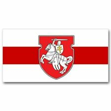 Belarus Original Pagonya Flag 3x5 FT (90x150cm) White-red-white With Knight Emb