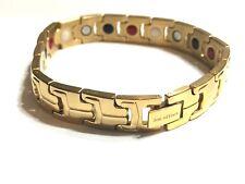 Authentic Negative Ion Effect Bracelet Men's  gold balance stainless steel