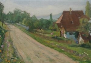 Signed B Seeberger? - Country Road Dingelsdorf At Bodensee